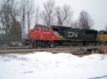 CN 5600 south at the house track